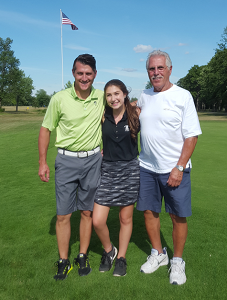 .  Team Rippe, a three generational team consisting of Grandfather Frank Rippe, son Michael, and Michael's daughter Morgan won first place, finishing three under par.