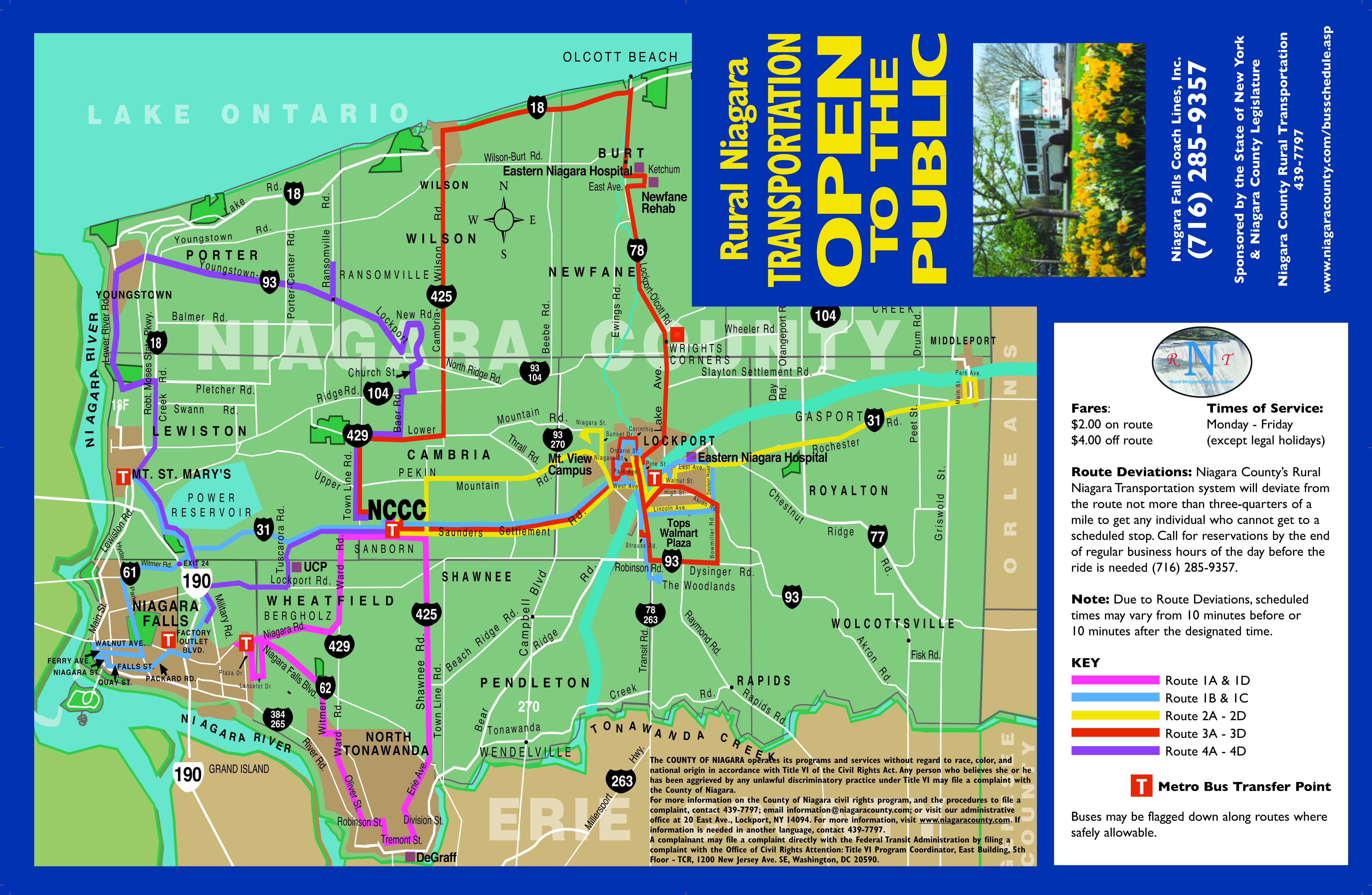Map Key Route 1 A D Pink Route 1 B C Blue Route 2 Yellow Route 3 Red Route 4 Purple