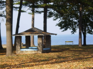 Fall photo of shelter in north park