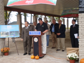 Senator Maziarz, Bill Ross, Kevin O'Brien, Tim Horanburg, Dave Godfrey, Clyde Burmaster, Matt Spillane from Coca-Cola