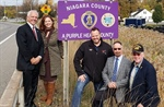 First of several county-designated 'Purple Heart' signs unveiled in Wheatfield