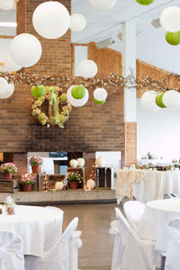 Warming house decorated for wedding