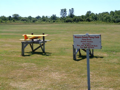 Photo of an RC plane and flying field